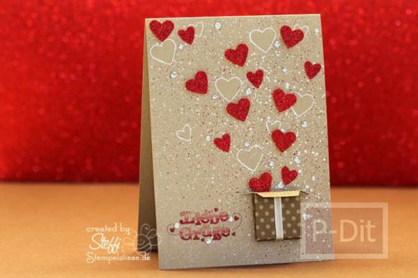 รูป 3 ไอเดียทำการ์ด วันวาเลนไทน์ ส่งหัวใจ จากกล่องกระดาษ