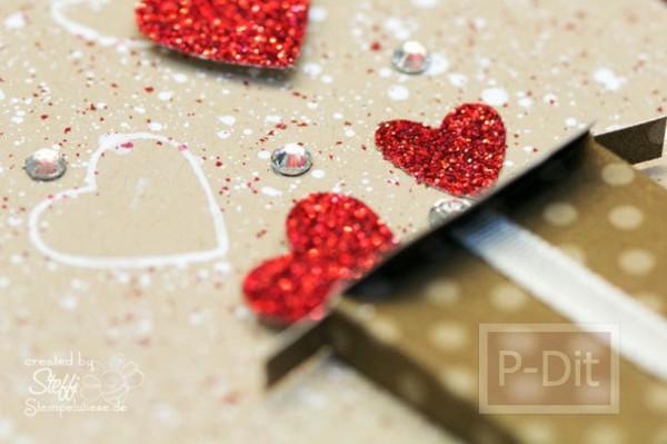 รูป 4 ไอเดียทำการ์ด วันวาเลนไทน์ ส่งหัวใจ จากกล่องกระดาษ