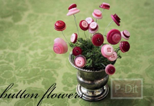 รูป 2 สอนทำดอกไม้จากกระดุม