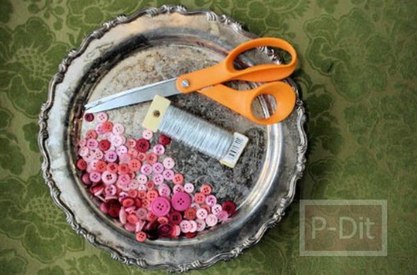 รูป 3 สอนทำดอกไม้จากกระดุม