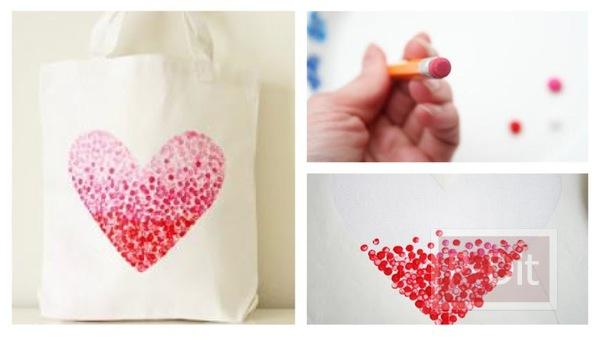 รูป 1 ของวันวันวาเลนไทน์ ถุงผ้าส่งรัก