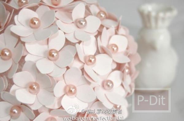 รูป 7 สอนทำดอกไม้น่ารักๆ จากกระดาษและหมุดปักผ้า