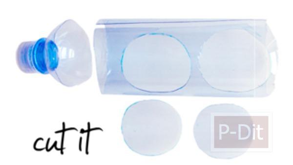 รูป 3 ต่างหู ทำจากขวดน้ำพลาสติก