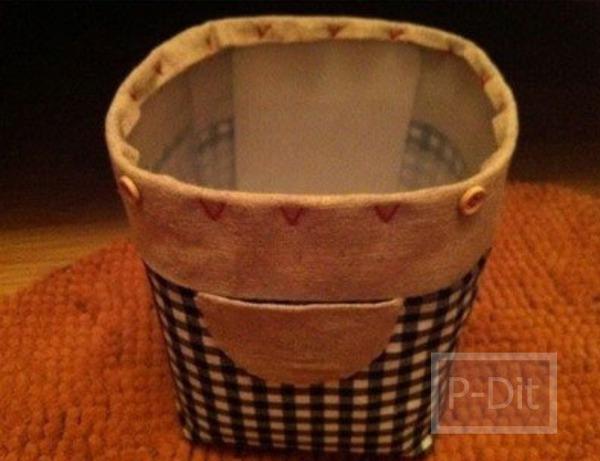 รูป 4 กล่องใส่ของ ทำจากขวดพลาสติกเก่าๆ