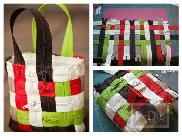 ทำกระเป๋าถือน่ารักๆ จากซิปหลากสี