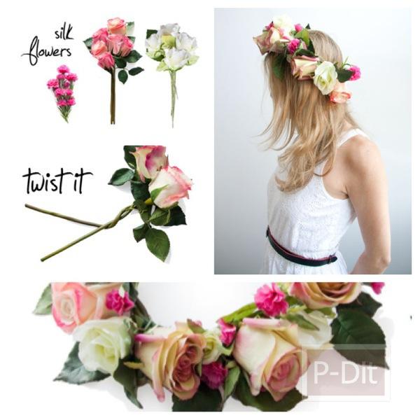 รูป 1 สอนทำมงกุฎดอกกุหลาบ สวยๆ
