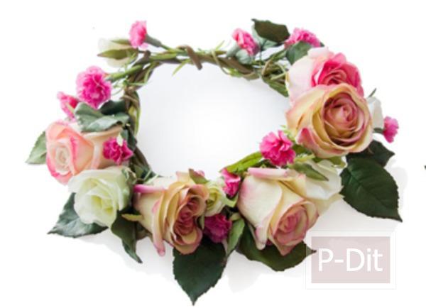 รูป 6 สอนทำมงกุฎดอกกุหลาบ สวยๆ