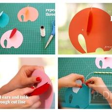 ทำโมบายช้างกระดาษ