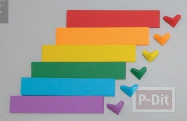 รูป 1 วิธีพับรูปหัวใจกระดาษ ส่งความรัก