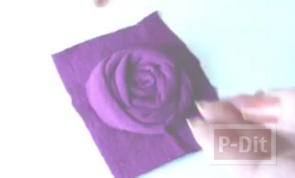 รูป 5 สอนทำที่คาดผมลายดอกไม้ สามดอก