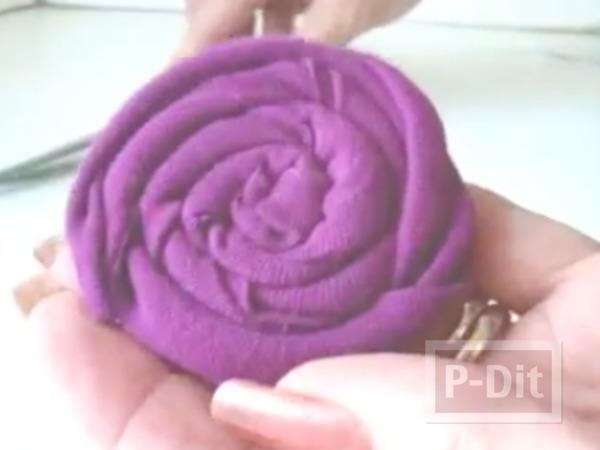 รูป 7 สอนทำที่คาดผมลายดอกไม้ สามดอก
