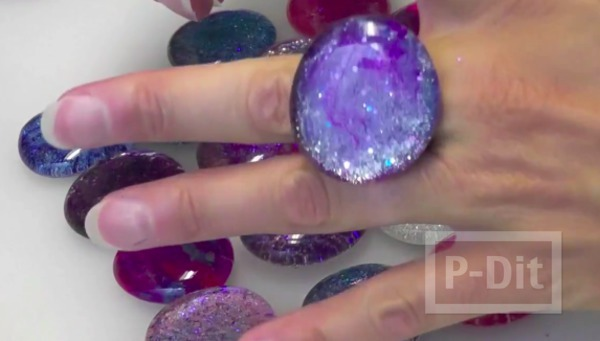 รูป 3 สอนทำแหวนจากเม็ดพลาสติกใส
