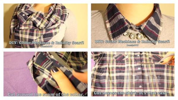 รูป 1 ปกเสื้อ ทำจากเสื้อเชิ๊ตตัวเก่าๆ