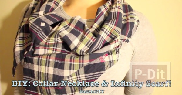 รูป 2 ปกเสื้อ ทำจากเสื้อเชิ๊ตตัวเก่าๆ