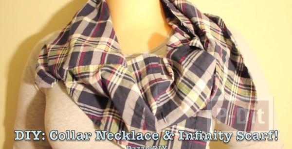 รูป 4 ปกเสื้อ ทำจากเสื้อเชิ๊ตตัวเก่าๆ