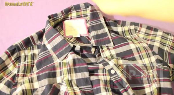รูป 6 ปกเสื้อ ทำจากเสื้อเชิ๊ตตัวเก่าๆ