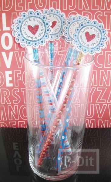 รูป 5 ของขวัญวาเลนไทน์ ดินสอสีชมพูลายหัวใจ