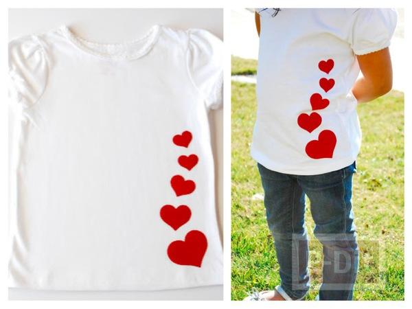 ตกแต่งเสื้อยืด ติดหัวใจ ส่งความรัก