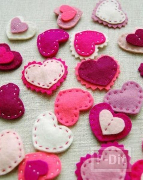 รูป 2 ทำกิ๊บติดผม ลายน่ารักๆ หัวใจดวงเล็ก