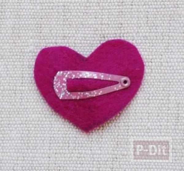 รูป 6 ทำกิ๊บติดผม ลายน่ารักๆ หัวใจดวงเล็ก
