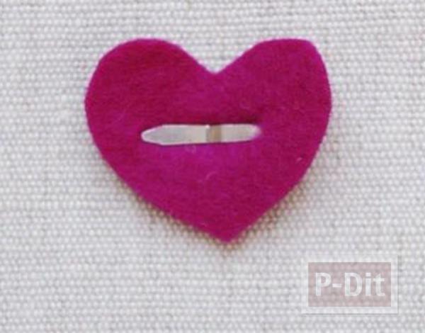 รูป 7 ทำกิ๊บติดผม ลายน่ารักๆ หัวใจดวงเล็ก