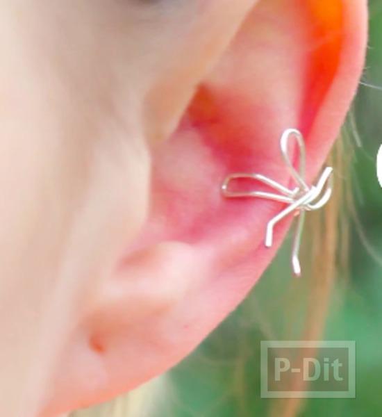 รูป 4 สอนทำต่างหูหนีบ จากเส้นลวด
