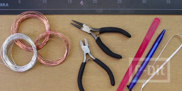 รูป 7 สอนทำต่างหูหนีบ จากเส้นลวด