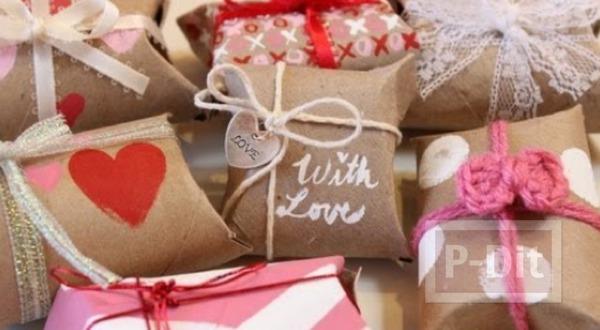 รูป 1 ทำกล่องใส่ของขวัญ จากแกนกระดาษทิชชู