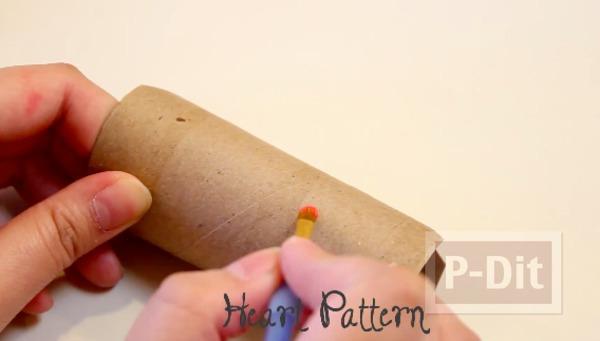 รูป 2 ทำกล่องใส่ของขวัญ จากแกนกระดาษทิชชู