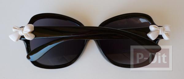 รูป 5 ตกแต่งขอบแว่นตา ด้วยโบว์เล็กๆ