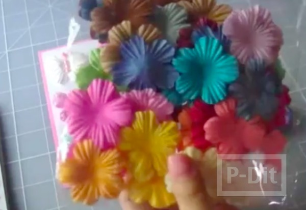รูป 3 ผีเสื้อสวยๆ ทำจากดอกไม้สำเร็จรูป