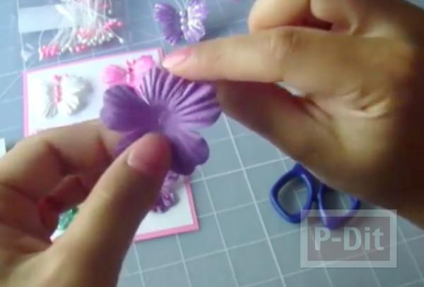 รูป 4 ผีเสื้อสวยๆ ทำจากดอกไม้สำเร็จรูป