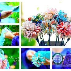 ประดิษฐ์ดอกไม้ จากกระดาษนิตยสาร