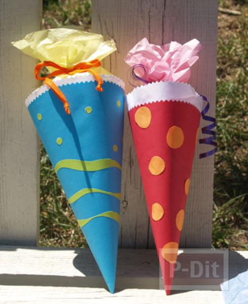 รูป 2 ห่อของขวัญ เป็นรูปไอศกรีม