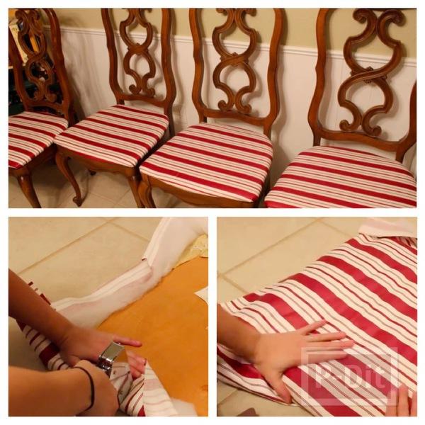 หุ้มเบาะเก้าอี้ตัวเก่า ให้มีสีใหม่สดใส