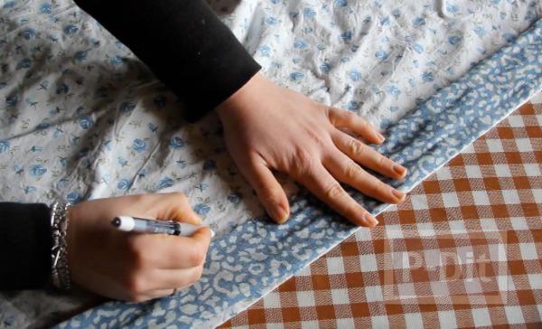 รูป 4 ที่คาดผมแบบผ้า ทำเอง