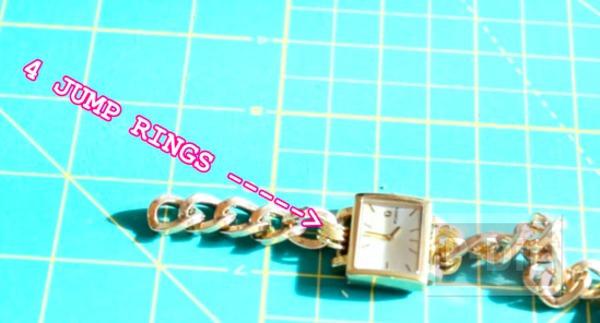รูป 7 สอนทำสายนาฬิกาสวยๆ จากสร้อยข้อมือ
