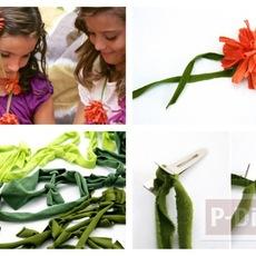 ทำดอกไม้ จากเสื้อยืด