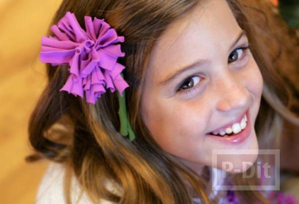 รูป 5 ทำดอกไม้ จากเสื้อยืด
