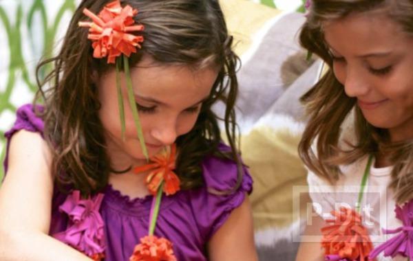 รูป 6 ทำดอกไม้ จากเสื้อยืด