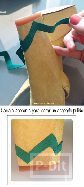 รูป 6 ตกแต่งรองเท้าคู่สวย ลายหยัก ลายใบไม้