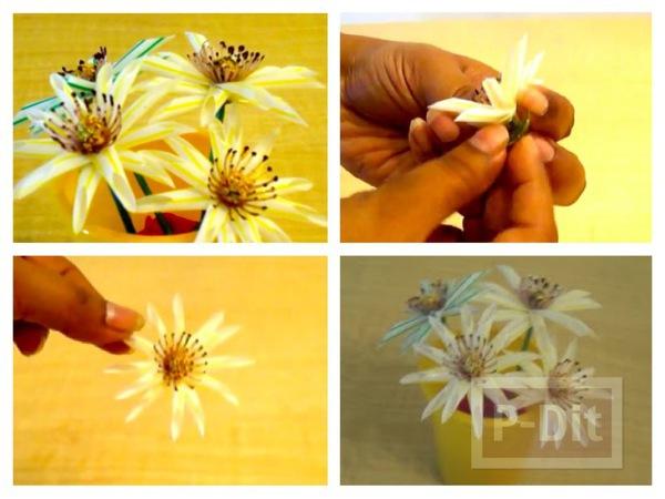 รูป 1 ประดิษฐ์ดอกไม้ จากหลอดกาแฟ