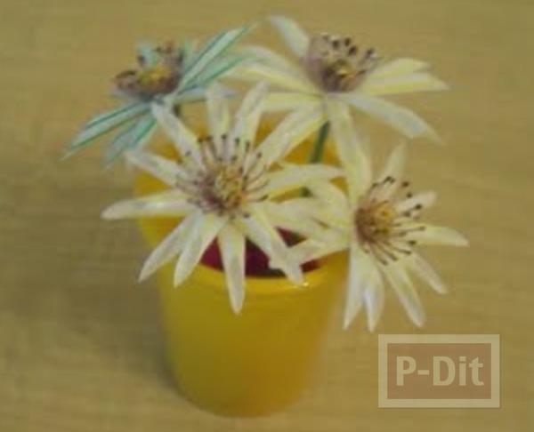 รูป 2 ประดิษฐ์ดอกไม้ จากหลอดกาแฟ
