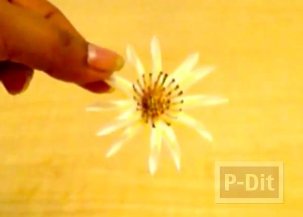 รูป 6 ประดิษฐ์ดอกไม้ จากหลอดกาแฟ