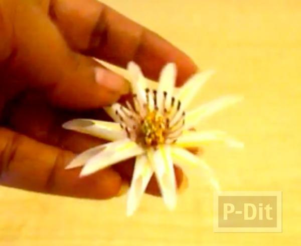 รูป 7 ประดิษฐ์ดอกไม้ จากหลอดกาแฟ