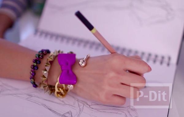 รูป 2 ทำโบว์ จี้ ตกแต่งสร้อยแขน สร้อยคอ ด้วยดินน้ำมัน
