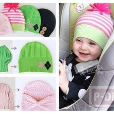 ทำหมวกให้เด็กน้อย จากเสื้อแขนยาวตัวเก่า