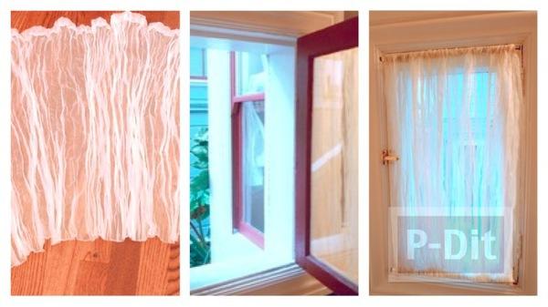 รูป 1 สอนทำผ้าม่านหน้าต่าง ห้องน้ำ