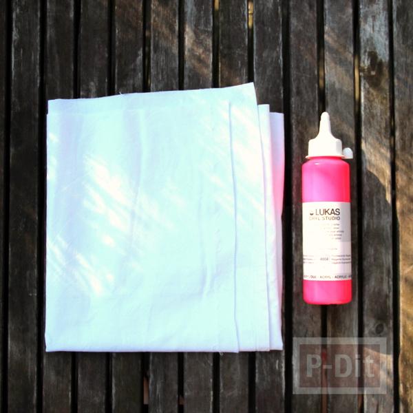 รูป 2 กระเป๋าถุงผ้า ทาสี เย็บง่ายๆ