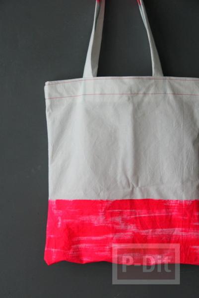 รูป 6 กระเป๋าถุงผ้า ทาสี เย็บง่ายๆ